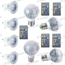4x GU10 E27 B22 RGB 3W 5W Colour Changing Dimmable LED Bulb Light Remote Lamp