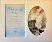 Christening Day - Boy or Girl Keepsake Photo Frame Mount by Prelude