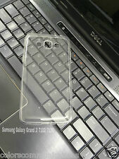 Transparent Back Cover Case For Samsung Galaxy Grand 2 (G7106) Grand 3 (G7200)