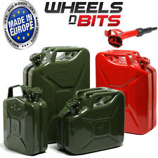 5L 10L 20L Litre JERRY MILITARY CAN FUEL OIL WATER PETROL DIESEL RED BLUE GREEN
