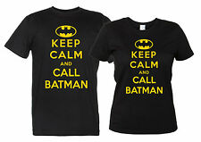 Keep Calm and Call Batman Maglietta Divertente Uomo Donna T-Shirt SuperEroe