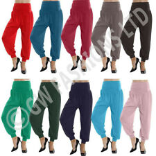 LADIES FULL LENGTH HAREEM ALI BABA PANTS WOMEN BAGGYTROUSERS HAREM LEGGINGS 8-26