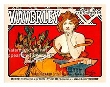 Waverley Cycles ,  Vintage Cycle advertising poster reproduction.
