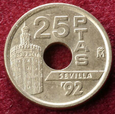 Spain 25 Pesetas 1990 to 2000 (Choose the Year) Very Fine or better