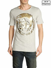New Diesel Men's T-Shirt T7-MOHICAN Cotton T-Shirt Available in 3 Colors RRP£55
