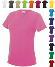 "Womens Sports T-Shirt Wicking Performance Top Gym Running Fitness ""Girlie"" Fit T"