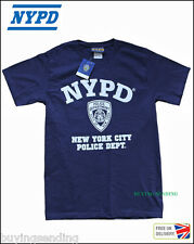 UK SELLER BRAND NEW YORK CITY LICENSED NYPD BLUE T SHIRT POLICE CAP DEPARTMENT