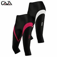 Womens Compression  Tights 3/4 Running Base Layer Fitness Sports Wear