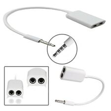 3.5MM HEADPHONE ADAPTER JACK TO JACK AUX SPLITTER PLUG FOR LATEST MOBILE PHONES