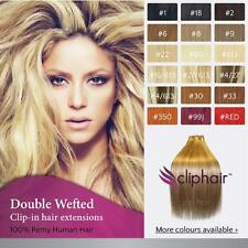 Extra Thick Double Wefted Clip In Remy Human Hair Extensions ~ By Cliphair UK