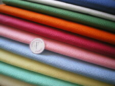 Binca Aida 6 count cross stitch fabric Pick from 4 sizes & 12 different colours