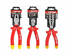 "Dekton 8"" 20cm Heavy Duty Insulated Long Nose/combination /side cutting Pliers"