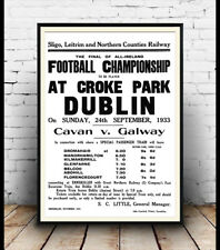 Football at Croke Park Dublin 1933 , advert, Poster, Wall art, Reproduction.