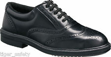 Tuffking 9076 S1P Black Steel Toe Cap Oxford Brogue Executive Safety Work Shoes