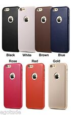 PREMIUM Thin Slim Soft PU Leather Back Cover Case for Apple iPhone 6 6S & 5 5S
