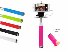 Monopod Selfie Stick Telescopic Wired Remote Mobile Phone holder For Apple Fone