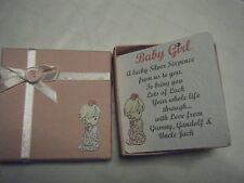 Baby's 1st Personalised Baby's Lucky Silver Sixpence in Card & Box