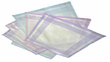 Passionelle® 6 Pack Ladies White 100% Cotton Pastel Handkerchiefs With Stripes