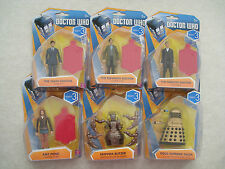 Doctor Who Wave 3 Figures-10th/11th/12th Doctor, Amy Pond, Skovox, Gold Dalek