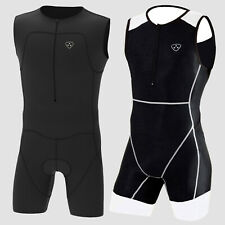 Mens Triathlon Suit Cycling Running Compression Tri Suit Cool Max Padding