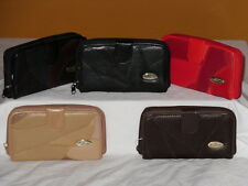 4808 Je Tadore Leather 12cm Patchwork Purse with Wallet Section Glasp Fastening