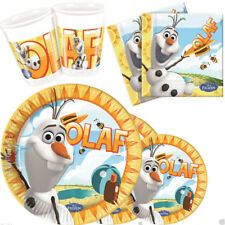 Disney SUMMER FROZEN OLAF Birthday Party Tableware Plates Cups Napkins kit 8 16