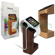 Stand in vero legno supporto carica ricarica dock per Apple Watch 38mm 2 42mm