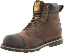 Buckler B301SM Hard As Nails Chocolate Oil Leather safety boot SZ 6/40 & 13/47