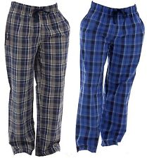 OCTAVE Mens 2 Pack Yarn Dyed Checked Loungewear Pants / Pyjama Bottoms