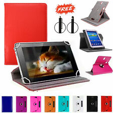 """Universal 360 Rotating Leather Stand Case Cover For Android Tab 7"""" 8"""" 10"""" inch"""