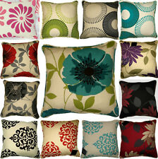 "4 x New Floral Printed Panama Cushion Covers 18""x18"" or 45cm x 45cm"