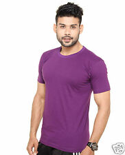 Plain Round Neck T-Shirt Purple Color - 100% Cotton