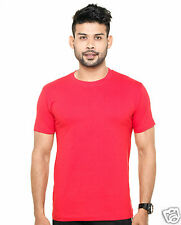 Plain Round Neck T-Shirt Red Color - 100% Cotton