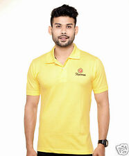 Fleximaa Collar Polo T-Shirt Lemon Yellow Color  - 100% Cotton