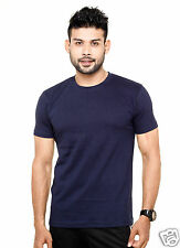 Plain Round Neck T-Shirt Navy Blue Color - 100% Cotton