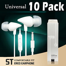 10 Pack Stereo Earphone In-Ear Earbuds Headphone with Mic for iPhone Samsung PC