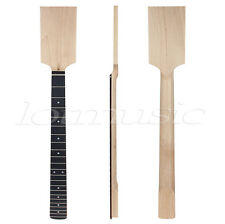 Electric Guitar Neck Paddle Head Rosewood on Maple 22 Frets Dot Inlay Unfinished