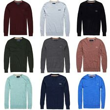 SUPERDRY KNIT - SUPERDRY ORANGE LABEL CREW KNIT -NAVY/BLACK/PLUM&MORE - BNWT