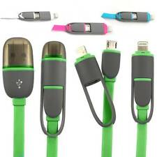 Micro USB 8pin Dual 2 in 1 Sync Data Charger Cable for Android Samsung iPhone