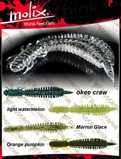 """Artificiale spinning Molix Swimming Dragonfly 3,5"""" black bass luccio"""