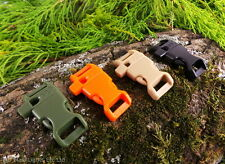 """13MM 1/2"""" CONTOURED CURVED PARACORD BUCKLES WITH WHISTLE BUSHCRAFT SURVIVAL EDC"""