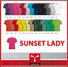T-SHIRT DONNA  - PAYPER - SUNSET LADY - IN COTONE