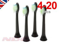 Sonicare DiamondClean Compatible BLACK Toothbrush Heads Philips HX6064 Phillips