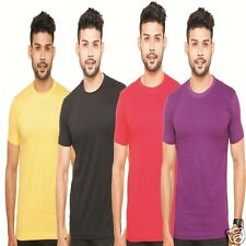 Fleximaa Round Neck T-Shirts Combo Pack of 4 - Attractive Colors - Low Price !!