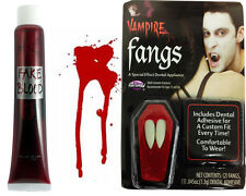 VAMPIRE FANGS AND FAKE BLOOD HALLOWEEN SCARY FANCY DRESS COSTUME