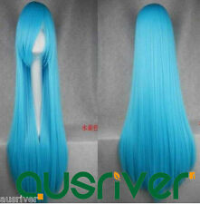 80CM Fashion 10 Colours Heat Resistant Women Lady Hair Full Wig Cosplay Anime