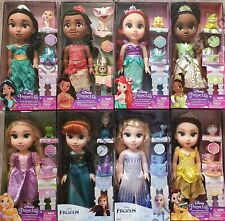 NEW Disney Toddler Princess Anna Elsa Cinderella Ariel Jasmine with Accessories