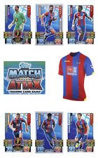Match Attax 2015/16 Trading Cards. Individual Base Cards Crystal Palace 74-90