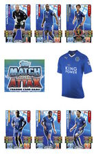 Match Attax 2015/16 Trading Cards. Individual Base Cards Leicester City 110-125