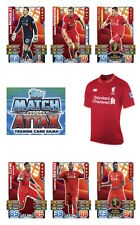 Match Attax 2015/16 Trading Cards. Individual Base Cards Liverpool FC 128-144